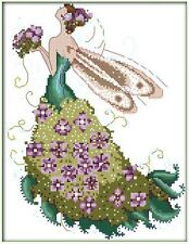 FLOWER FAIRY COUNTED CROSS STITCH KIT 14 COUNT AIDA 29x36CM