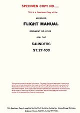 SAUNDERS ST.27-100 - FLIGHT MANUAL ( TURBOPROP CONVERSION OF THE DH HERON )