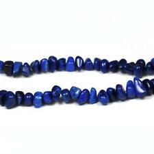 Magnesite Chip Beads 6-12mm Dark Blue 70+ Pcs Handcut Gemstones Jewellery Making