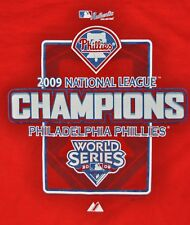 T-SHIRT L LARGE PHILADELPHIA PHILLIES BASEBALL CLUB 2009 NATIONAL LEAGUE CHAMPS