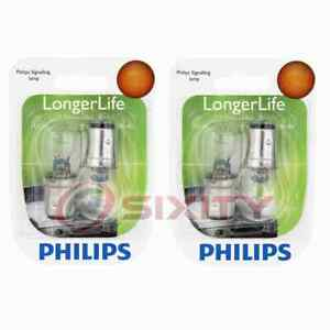 2 pc Philips Front Turn Signal Light Bulbs for Honda Civic Civic del Sol ie