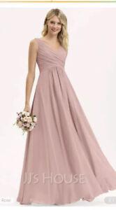 Dusty Pink Bridesmaid Dress Size 10