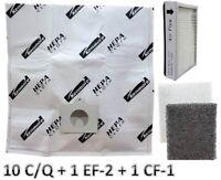 10 Sears Kenmore C/Q Canister Vacuum Bags + 1 EF2 + 1 CF1 5055 50558 86880 86883