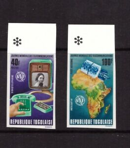 Togo 1972 World Telecommunications Day imperf. set MNH mint stamps