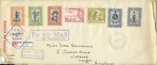 PAPUA 1941 Censored registered airmail cover to UK