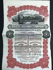 compagnie de chemins de fer au bresil 1912