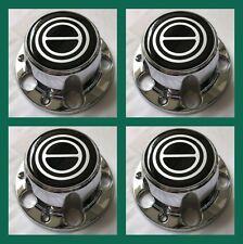 1980-1996 FORD F150 BRONCO VAN Chrome Wheel Hub Center Caps BLACK Center 4 PCS