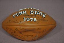 Vintage 1978 Penn State Football Trophy Ball Team Signatures Paterno Sugar Bowl