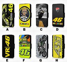 VALENTINO ROSSI MOTOGP RACER CHAMPION VR46 SIMILI-CUIR ÉTUI RABATTABLE L119