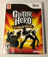 Guitar Hero: World Tour (Nintendo Wii, 2008) TESTED Game and Case Only