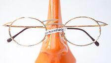 Brille Fassung Schmuckbrille Markengestell Taxi gold silber Metallrand oval Gr M