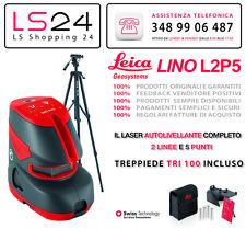 Leica Lino L2P5 + Treppiede TRI100 - Livello Laser x Interni - 2 Linee e 5 Punti