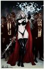 """LADY DEATH ART PRINT COVER F """"ZOMBIES"""" Signed by BRIAN PULIDO"""