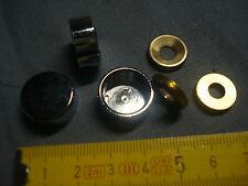 2 cache vis plat 18 mm laiton chromé (réf LC18P)