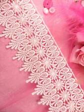 """C182 Ivory Shimmering Hearts Victorian Venice Lace Trim 4"""" Sewing Crafts Trim :)"""