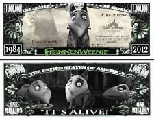 FRANKENWEENIE TIM BURTON BILLET MILLION DOLLAR! Collection Animation Walt Disney