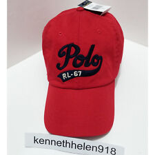 77ca8f5f7bf88 Polo Ralph Lauren Men s Rl67 Baseball Cap Hat Red Adjustable One Size