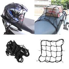 Adjustable Bungee Cord Cargo Net Motorcycle Helmet Mesh Storage Tie Down BLACK