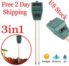 Soil pH Meter Moisture Meter Testers Acidity Sensor Plant Sunlight Garden Probe