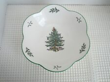 Spode CHRISTMAS TREE - 9 Inch Daisy Bowl - Scalloped -Made in England