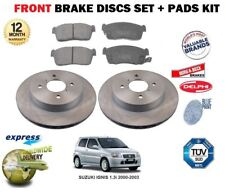 FOR SUZUKI ALTO 1.0 1//1997-12//2002  FRONT BRAKE DISCS SET /&  DISC PADS KIT