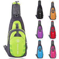 Adult Unisex Chest Bag Sling Backpack Crossbody Shoulder Waterproof Travel Sport
