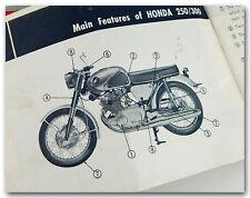 GENUINE HONDA CB72 250 CB77 300 SUPER HAWK 56 PAGE OWNER'S MANUAL MISSING COVER