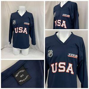 USA Hockey Jersey Small  Men Navy Blue American Dev Model NHL YGI P1-780