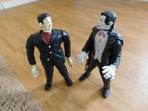 Dracula IMPERIAL VINTAGE SET OF 2 (TWO) Universal Monsters Frankenstein Movable