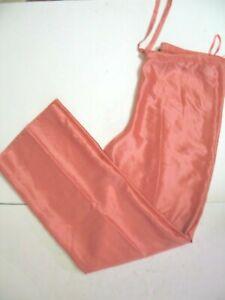 DONNA KARAN Black Label 100% Silk Tie Waist Pants Size medium