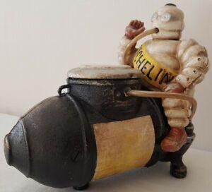 Michelin Man Compressor Mascot Bibendum Cast Iron Figure Tyre Vintage Gift