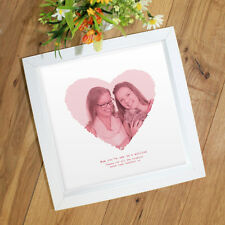 Personalised Gift for Mother's Day Mum Mam   YOUR PHOTOGRAPH in HEART with text