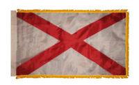 3x5 Alabama State Poly Nylon Sleeve w/ Gold Fringe Flag 3'x5' Banner