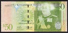 Tonga; National Reserve Bank. 50 pa'anga. (2009). Series A. (Pick; 42). AU-UNC.