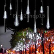30CM Meteor Shower Rain Tube Snowfall 144 LED Light Tree Garden Christmas White