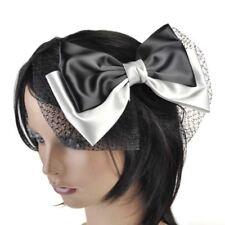 Lazo de plástico de color principal negro para cabello de mujer