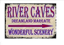 Dreamland Margate Vintage Style Sign  Fairground Ride  River Caves Sign