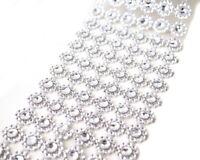 "10YD Diamond Bling Mesh Rhinestone Ribbon Wrap Diamond Wedding Decoration 4"""