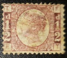 Gb Qv Sg48 1/2d. rose Plate6 F-T used stamp (No698)