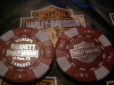 Red & White Poker Chip Barnett Harley Davidson El Paso, TX