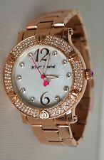 Betsey Johnson MOP Gold-Tone Dial Women's Watch BJ00229-03 New