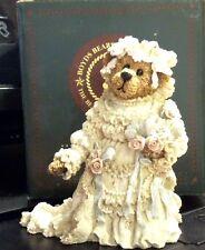Boyds Bearstone - Bailey as The Bride - #22712Gcc - Nib - Retired 1998 - Rare
