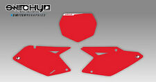KIT ADESIVI GRAFICHE TABELLE RED SUZUKI RMZ 250 2007 2008 2009 DECALS DEKOR