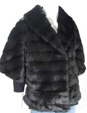 Calvin Klein Black Faux Fur Shrug Coat Formal or Casual Sz L NWT CD2R9DAO