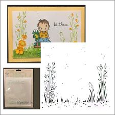 Backyard Garden Leane Creatif embossing folders 35.2946 Cuttlebug Compatible