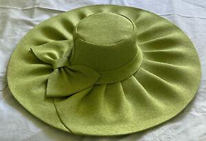 Damenhut Kopfbedeckung 57 Sommerhut Grün Hochzeit Taufe Ascot