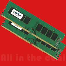 Crucial 16GB Kit 2x 8GB DDR4 2400 Mhz PC4-19200 Desktop Memory DIMM 288-pin