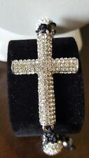 Shamballa Jewelry Bracelet with Cross and Micro Pave Disco Ball