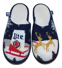 New listing Miller Lite Beer Christmas Slippers Fit Women Xl 10 or Men M 8