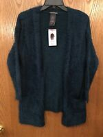 CHELSEA & THEODORE Women's Open Front Eyelash Cardigan size Small